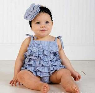 Infant Baby Toddler Girls Kids Apparel Ruffled Romper One Piece