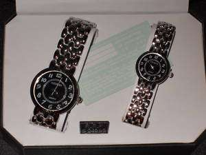 GENEVA Women and Men Matching Watch Sets