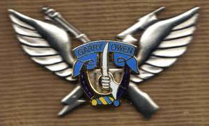 7th Cavalry Garry Owen 1st Style Air Assault Badge