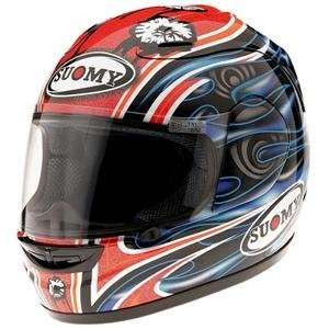 Suomy Spec 1R Gadea Replica Helmet   Small/Red Automotive