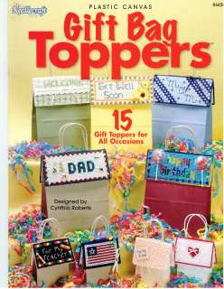 Plastic Canvas: Gift Bag Toppers   15 Designs