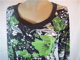 Everyday Women Plus Size Clothing Black Green White Shirt Top Blouse