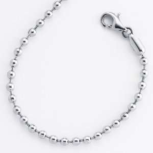 18 Inch  1.5mm Bead Stainless Steel Chain Necklace