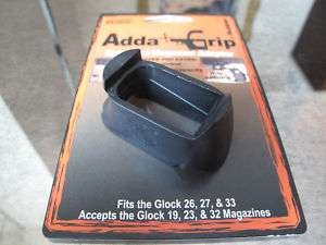 Grip Extension for Glock 26 27 and 33 Fits Large Mags h