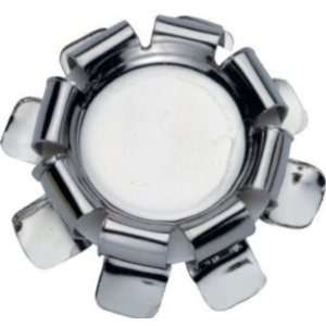Set of 6 Chrome Bottle Cap Stoppers by Ghidini: Kitchen & Dining