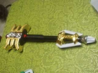 POWER RANGERS ZEO GOLD STAFF NICE WORKS GREAT