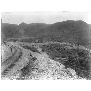 Look near San Jose,Railroad,Mexico,1895?,locomotive