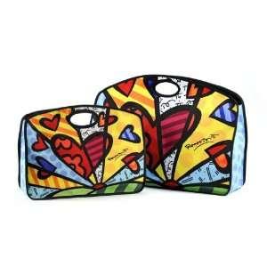 Romero Britto Mirco Fiber Grab Bag Set of 2 Patio, Lawn & Garden