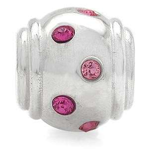 AUTH Nagara Crystal Sterling Silver European Charms Bead