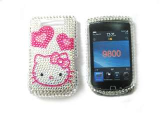 hello kitty Rhinestone Bling Case Blackberry Torch 9800