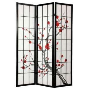 6 ft. Tall Cherry Blossom Shoji Screen
