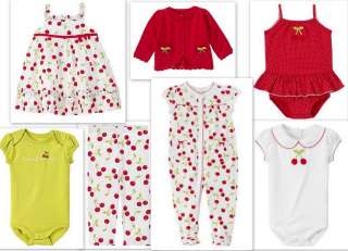 Gymboree Cherry Sweet Dress Pants Top 3 6 9 12 18 UPick