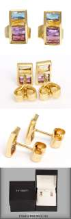Citrine, Amethyst, Pink Tourmaline & Gold Earrings by H. Stern