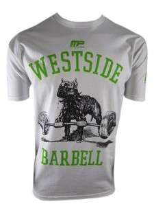 MUSCLEPHARM WESTSIDE BARBELL TEE SHIRT WHITE LARGE