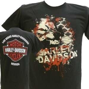 Harley Davidson Las Vegas Dealer Tee T Shirt BLACK LARGE #BRAVA1