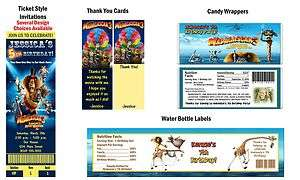 Madagascar 3 Movie ~ Birthday Party Ticket Invitations, Supplies