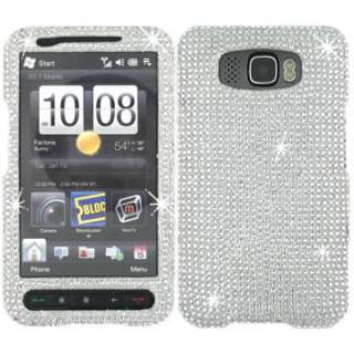 DIAMOND CRYSTAL BLING GEM COVER CASE for HTC HD2 SILVER