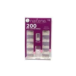 Nailene Full Cover Nails Kit, Petite Square 1 kit Beauty
