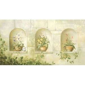 STONEWALL with 3 NICHE Stone Wall Wallpaper Mural