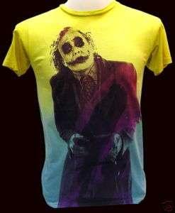 Nwt JOKER Heath Ledger Retro T Shirt Vintage BATMAN S