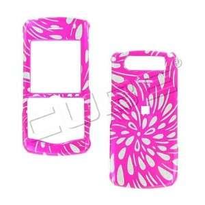 GLITTER PINK RAIN snap on hard case faceplate for Blackberry 8130
