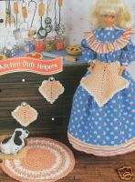 Crochet Fashion Doll Pattern KITCHEN DUTY HELPERS