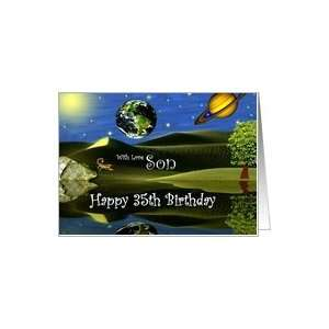 Birthday ~ Son / Age Specific 35th ~ Planet Taro Card: Toys & Games