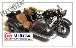 Hand Made Art Bar Decor Model Motorcycle w/ Sidecar BMW R71