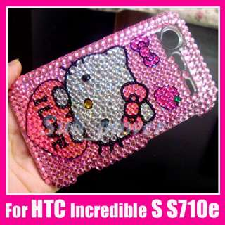 Hello Kitty Bling Case Cover HTC Incredible S S710e IL
