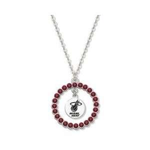 NBA Miami Heat Necklace W/ Red Crystal Wreath Everything