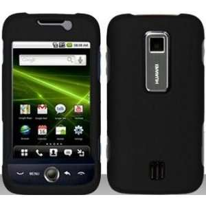 Black Hard Snap On Case Cover Faceplate Protector for Huawei Ascend