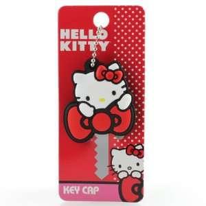 Classic Hello Kitty Sanrio Key Cap Holding Bow Everything