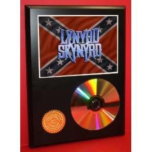 Lynyrd Skynyrd 24kt Gold CD Disc Display   Band Merch   Award Quality