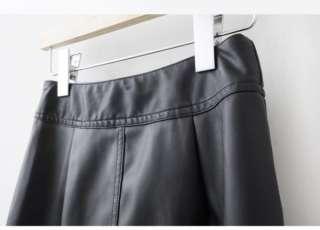 Motorcycle Biker Leather Mini Skirt Women Dress Zipped