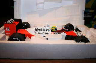 18 Minichamps F1 1988 Ayrton Senna Mclaren Honda MP4/4 WC Marlboro