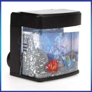 Decoration Mini Christmas Aquarium Gift Magic LED Light Small Fish