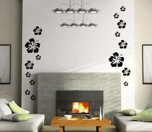 46 HIBISCUS hawaii wall sticker room decal home decor