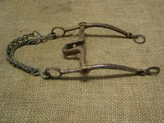 Vintage Iron Silver & Brass Horse Harness Bit Antique Rare Wagon