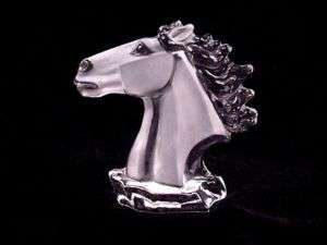 HORSE HEAD ~ BUST ~ SOILD GLASS ~ Figurine ~ STATUE
