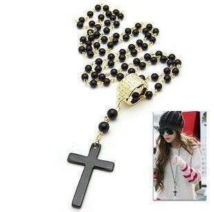 Fashion Retro hot Black Cross Style charm Pendent Necklace so nice