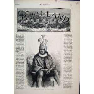 Portrait 1879 Cetewayo King Zulus Zulu Land Old Print: Home & Kitchen