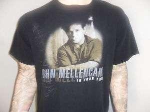 JOHN MELLENCAMP CONCERT SHIRT Cougar vtg Tour XL