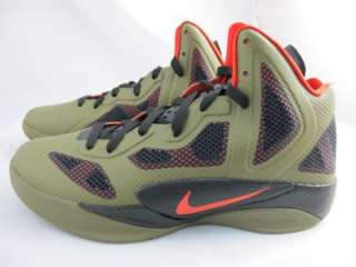 NIKE ZOOM HYPERFUSE 2011 454136 200 IGUANA/MAX ORANGE BLACK