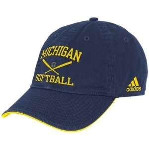 adidas Michigan Wolverines Navy Blue Collegiate Softball