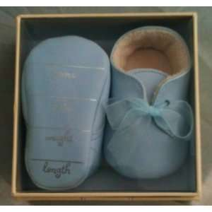 Hallmark Signature Blue Baby Boy Shoes Birth Stats Memento Gift Baby