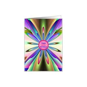 Happy 60th Birthday To You! Rainbow Petals Card: Toys