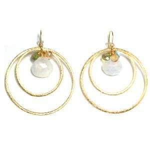 Nina Nguyen 22K Gold Vermeil Casablanca Double Hoop Dangle Earrings