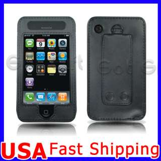 LEATHER HOLSTER BELT CLIP CASE COVER FOR IPHONE 3G 3GS