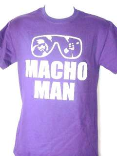 Macho Man Randy Savage Purple Sunglasses T shirt New