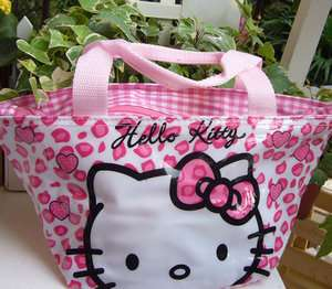CUTE Hello Kitty Lunch Bag Handbag PURSE Tote Nice Gift For Kids #J15
